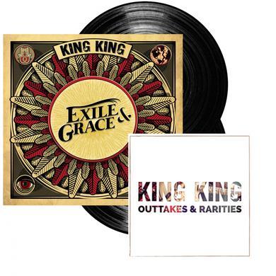 KING KING Exile & Grace - 180grm Black Double Vinyl  (Signed) Double LP