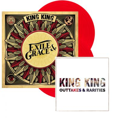 KING KING Exile & Grace - Limited Edition 180grm Red Vinyl Double LP (Signed, Store Exclusive) Double Heavyweight LP