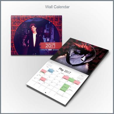 Klayton - 2017 Wall Calendar (Celldweller, Circle of Dust, Scandroid)