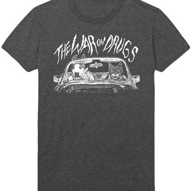 The War On Drugs Front View Ladies Tee (Gray)