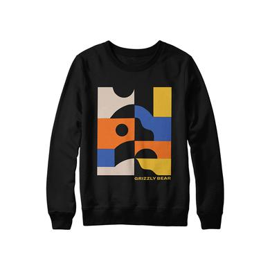 Grizzly Bear Minimalist Crewneck (Black)
