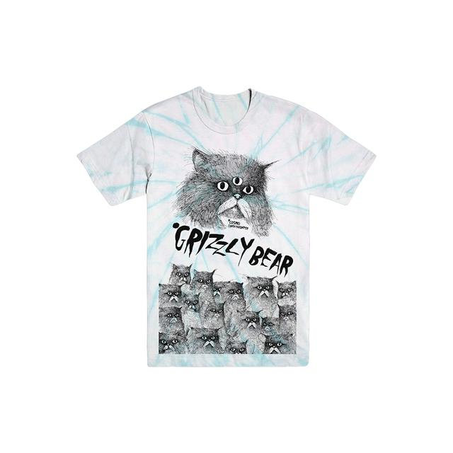 Grizzly Bear Catz Tie Dye Tee (Pale Turquoise)