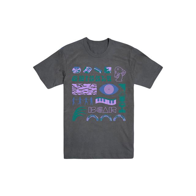 Grizzly Bear Trippy Tee- Pepper