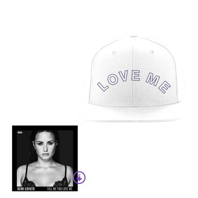 Demi Lovato White Snapback Hat + Super Digital Album