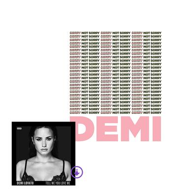 Demi Lovato Custom Sorry Not Sorry Art Print + Digital Album