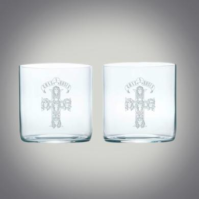 Guns N' Roses GnR Etched Whiskey Glass