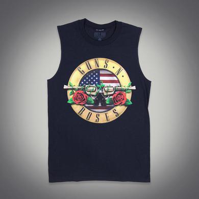 Guns N' Roses Red White & Blue Bullet Seal Muscle Tank