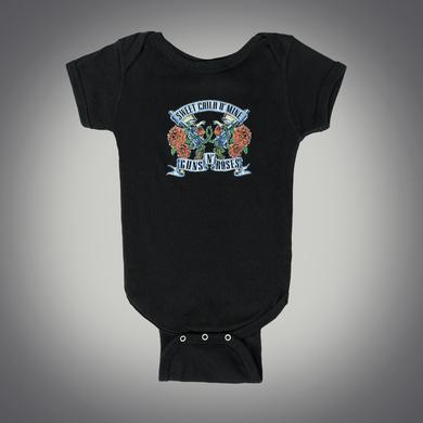 Guns N' Roses Sweet Child Banners and Pistols Onesie