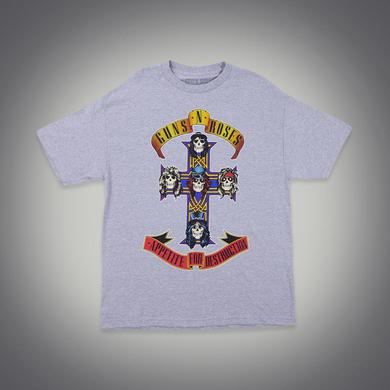 Guns N' Roses Cross Grey Tour Tee