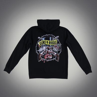 Guns N' Roses Skull and Guns Hoodie