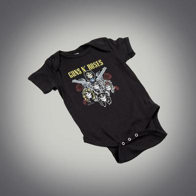 Guns N' Roses Skulls and Pistols Onesie