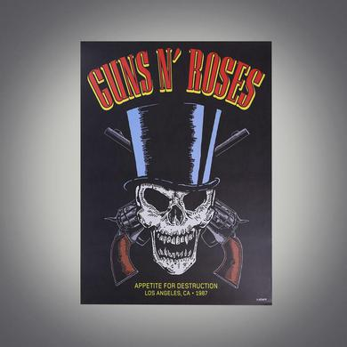 Guns N' Roses Limited Edition Hand Numbered Appetite For Destruction Lithograph
