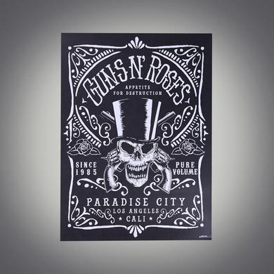 Guns N' Roses Limited Edition Hand Numbered Paradise City Lithograph