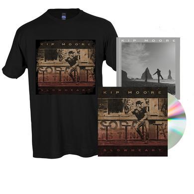 Kip Moore SLOWHEART - CD + T-Shirt + Signed Photo Book + Enhanced Album Experience