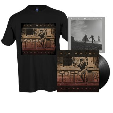 Kip Moore SLOWHEART - Vinyl LP + T-Shirt + Signed Photo Book + Enhanced Album Experience