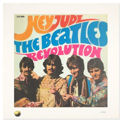 The Beatles Hey Jude - Singles Lithograph Collection
