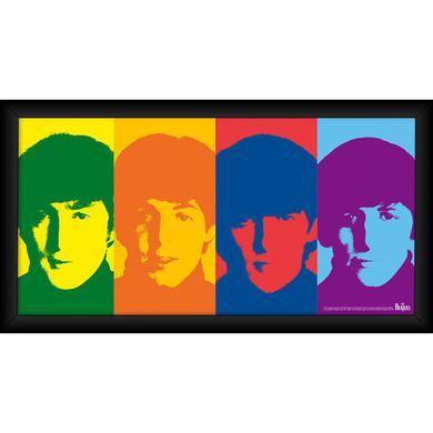 The Beatles 1964 'Color Head Shots' 10x20 Framed Photo