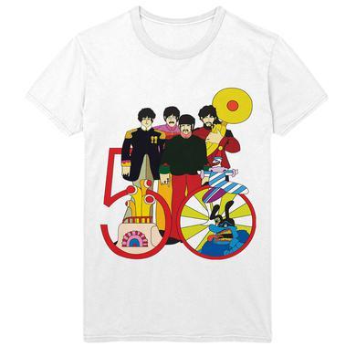The Beatles Yellow Submarine 50th Anniversary White T-Shirt