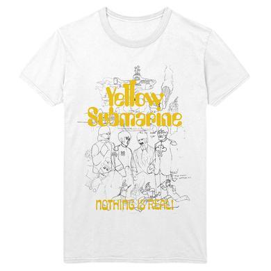 The Beatles Yellow Submarine 50th Anniversary White Outline T-Shirt
