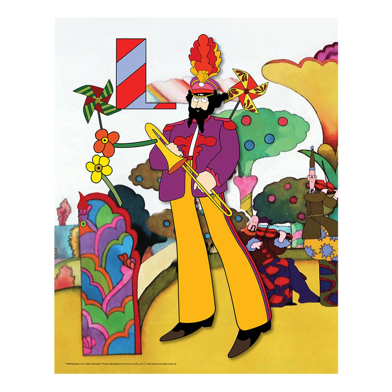 The Beatles Yellow Submarine Love Flowers 19 X 30 Canvas Set Of 4