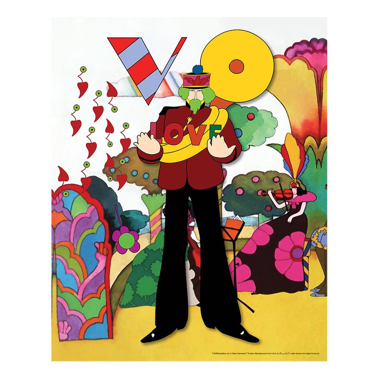 The Beatles Yellow Submarine Love Flowers 19 X 30 Canvas Set Of 4