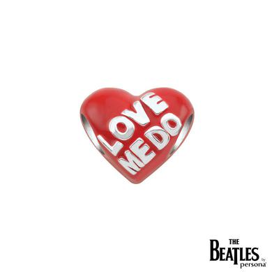The Beatles 925 Sterling Silver Love Me Do Red Heart Bead