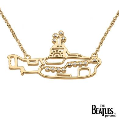 The Beatles 925 Sterling Silver and 18k Gold Overlay Yellow Submarine Necklace