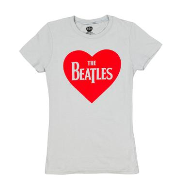 The Beatles Heart Logo Ladies T-Shirt