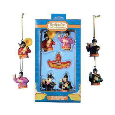 The Beatles Yellow Submarine 5 Piece Ornament Set