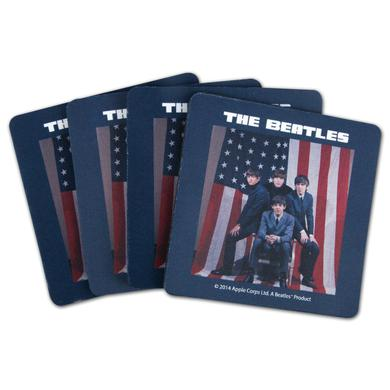 The Beatles U.S. Visit Neoprene Coaster Set