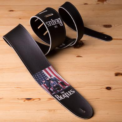 "The Beatles American Flag 1964 Tour Ad 2.5"" Vinyl Guitar Strap"