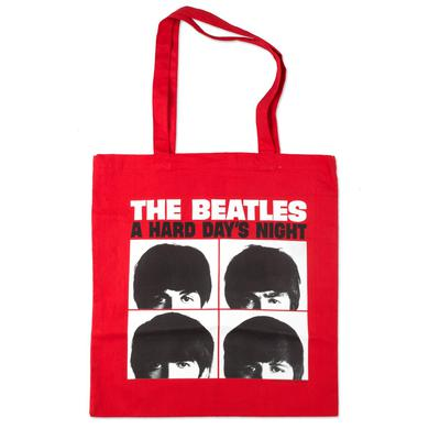 The Beatles Hard Day's Night Red Tote Bag