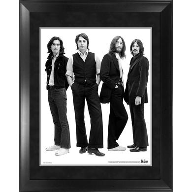 The Beatles Through the Years: 1969Group Pose White Background Framed Photo