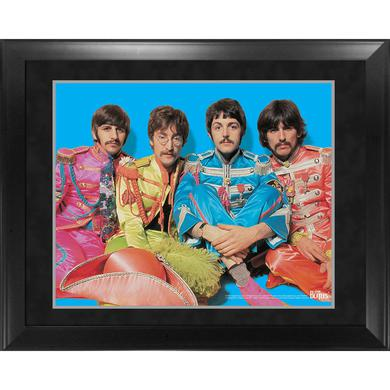 The Beatles Through the Years: 1967 Sgt. Pepper Group Pose Framed Photo