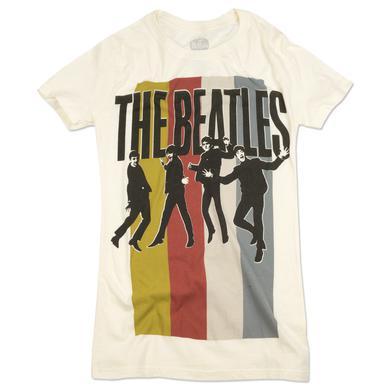 The Beatles Stripes Standing Group Jr  T-Shirt