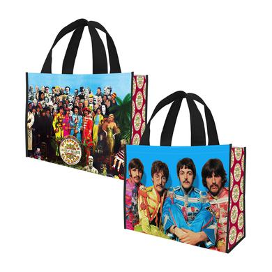 The Beatles Sgt. Pepper Large Recycled Shopper Tote