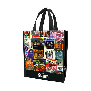 The Beatles Collage Small Recycled Shopper Tote