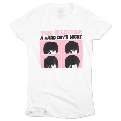 The Beatles Hard Day's Night Stacked Ladies T-Shirt