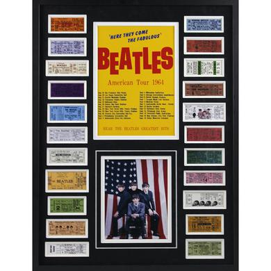 The Beatles American Tour 1964 Framed Ticket Collage