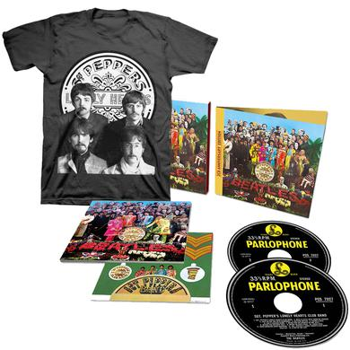 The Beatles Sgt. Pepper's Lonely Hearts Club Band 2 Deluxe CD + T-Shirt Bundle