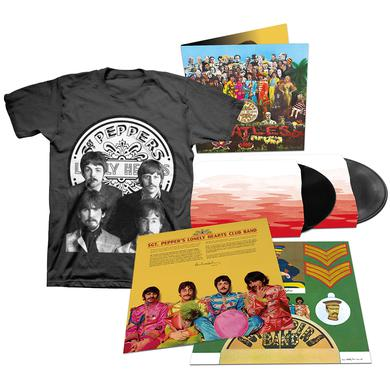 The Beatles Sgt. Pepper's Lonely Hearts Club Band 2 Deluxe LP + T-Shirt Bundle