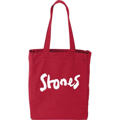 The Rolling Stones Brush Stroke Red Tote Bag
