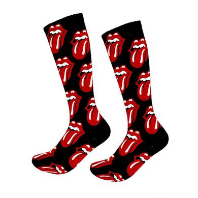 The Rolling Stones Tongue Pattern Socks