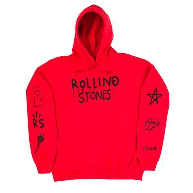 The Rolling Stones Trevor Andrew x Stones Red Hoodie