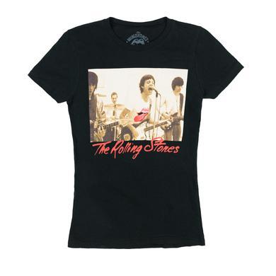Rolling Stones Sepia Band Photo Babydoll T-Shirt