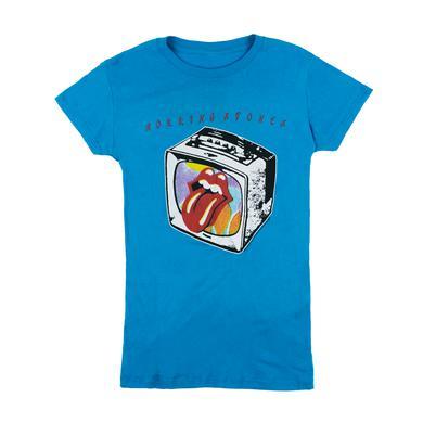 Rolling Stones TV Lips Turquoise Women's T-Shirt