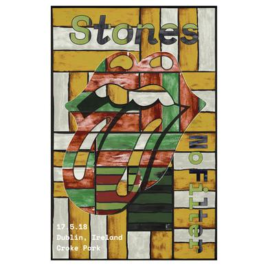 The Rolling Stones Dublin Lithograph