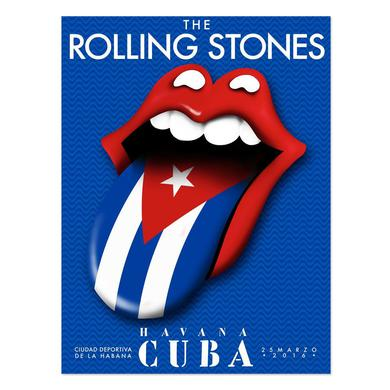 Rolling Stones Cuba Flag Tongue Lithograph