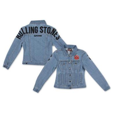 Rolling Stones Arch Logo Ladies Denim Jacket