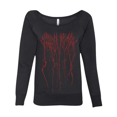 BABYMETAL SPLATTER WOMENS WIDE NECK SWEATSHIRT